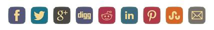 Retro Share Button Set