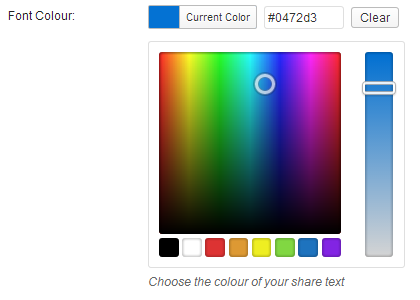 Share Text Color