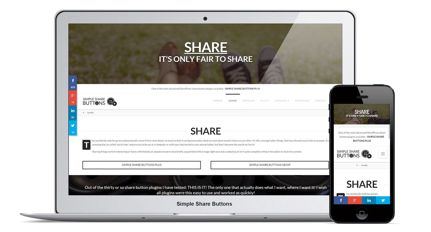 how to put a share button on your website