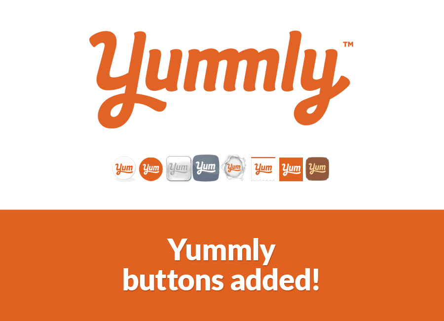 Yummly share button added feature