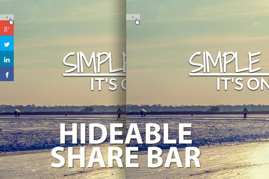 Hideable Share Bar